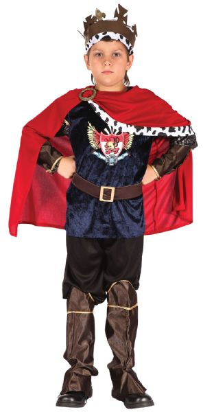 Boys Fantasy King Costume Sexy Adult Role Play Fancy Dress Outfit